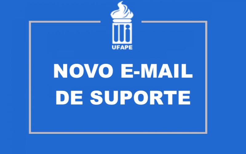 Novo e-mail para suporte técnico