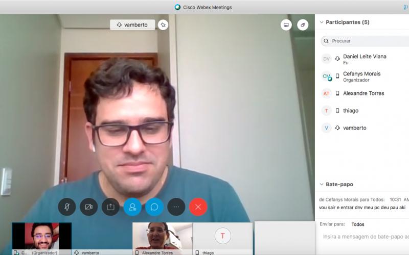 Equipe do NTI realiza reunião virtual